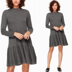 [Kate Spade] Mock Neck Knit Flounce Dress